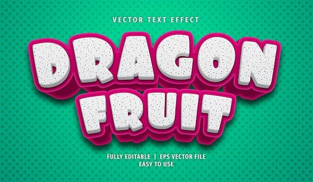 Drachenfrucht-texteffekt, bearbeitbarer textstil