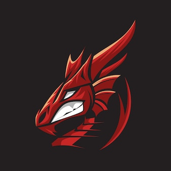 Drachenkopf logo dragons head symbol