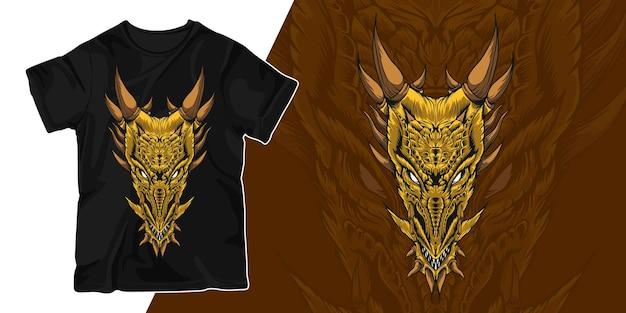 Drachenkunstillustrations-t-shirt-design
