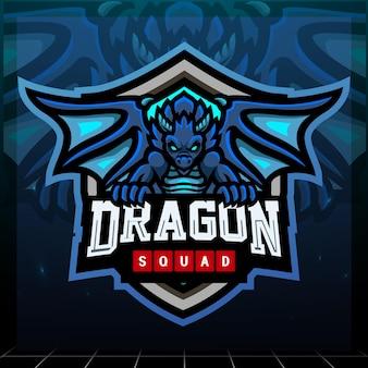 Drachenmaskottchen-esport-logo-design
