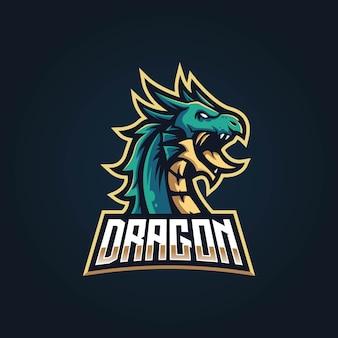 Drachenmaskottchen-logo für e-sport-team.