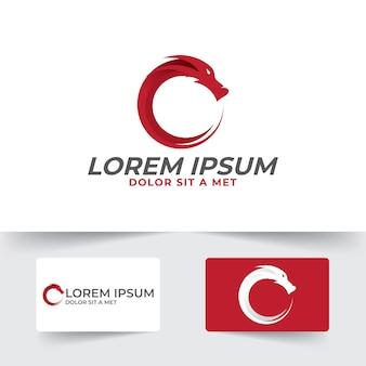 Drachenschattenbildikonenillustrationsschablone mit einfachem und sauberem stil lokalisiert auf weißem hintergrund, drachenesport-logodesign.