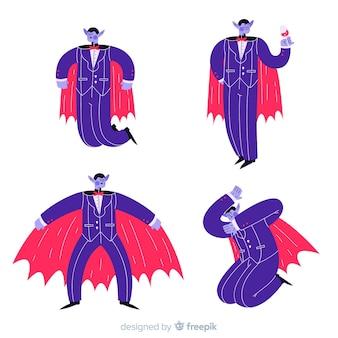 Dracula mit umhang und anzug