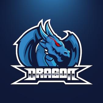 Dragon e-sport team logo emblem design