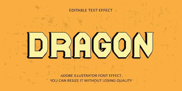 Dragon editierbarer text schrift-effekt