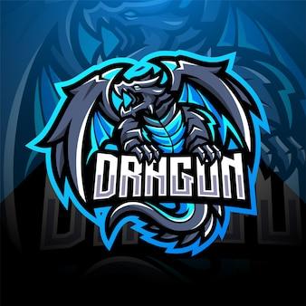 Dragon esport maskottchen logo design