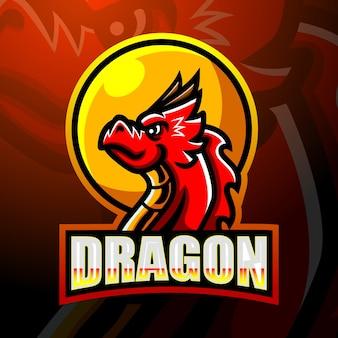 Dragon mascotesport logo design