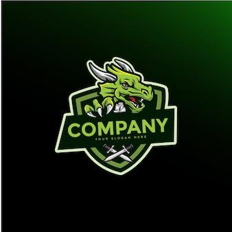 Dragon maskottchen gaming-logo
