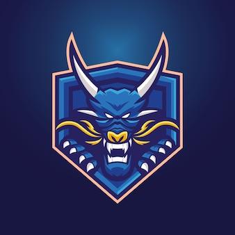 Dragon maskottchen logo vorlage