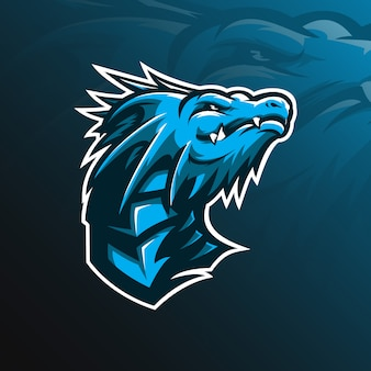 Dragon maskottchen vektor-logo
