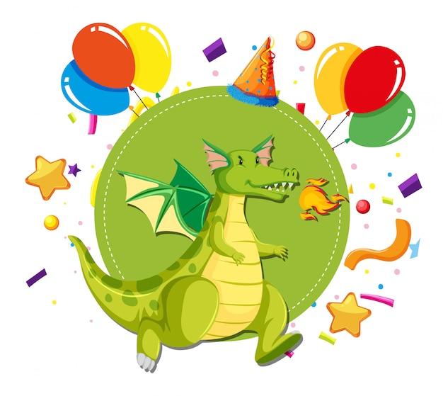 Dragon party vorlage konzept