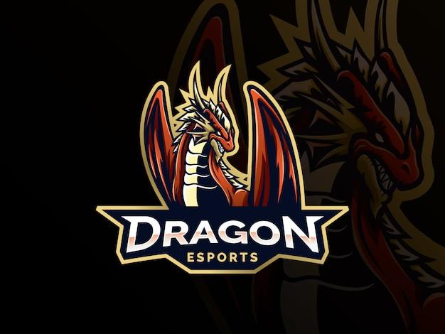 Dragon-vektor-logo-vorlage