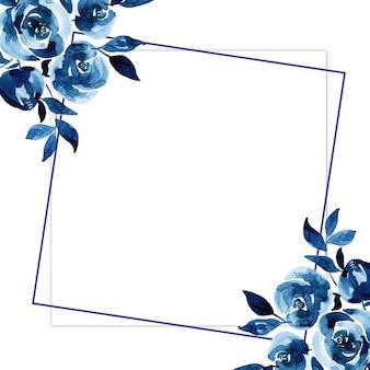 Draht aquarell blumen frames
