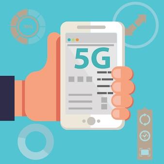 Drahtlose 5g-netzwerksysteme und internet