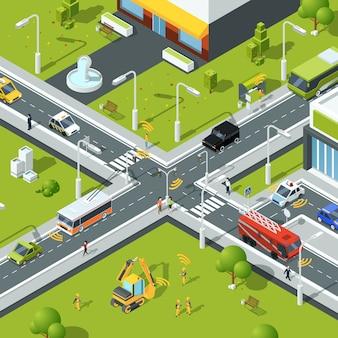 Drahtlose verbindung im stadtverkehr.