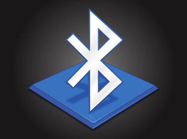 Drahtloser datenaustausch bluetooth-symbol