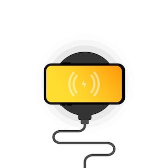 Drahtloses ladegerät oder smartphone beim kabellosen laden