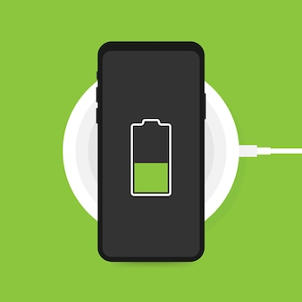 Drahtloses laden für smartphone.