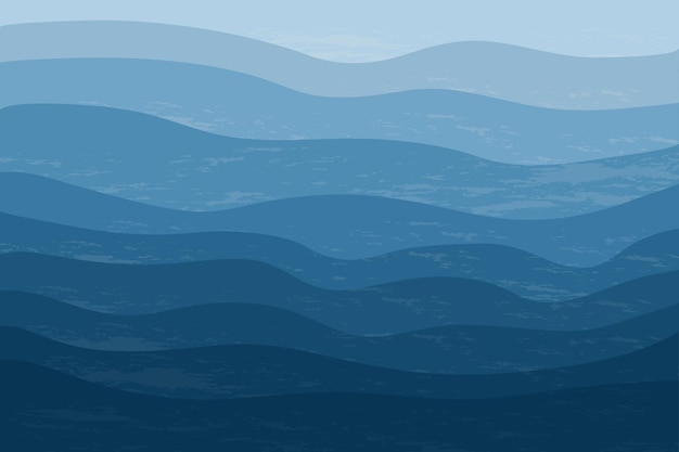Draufsicht auf das blaue meer abstrakter stilvoller hintergrund mit meereswellen