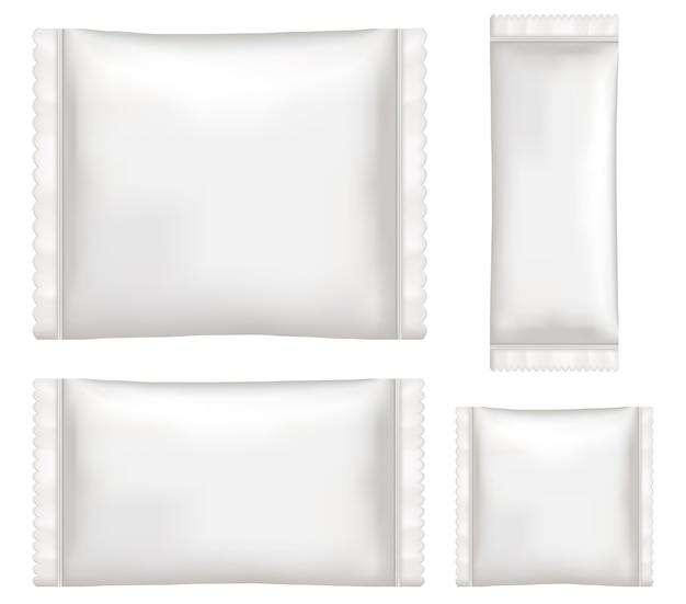 Draufsicht des weißen polystyren- und plastikverpackungsmodells