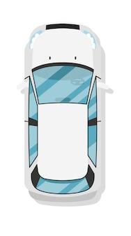 Draufsichtfamilien-universalauto lokalisiert