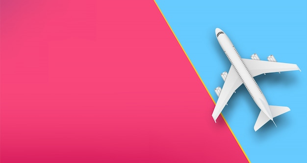 Draufsichtflugzeug, reiseferienflugzeug.
