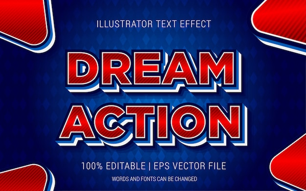Dream action text effects style