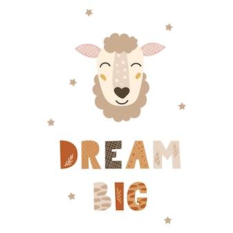 Dream big - niedliches kinderzimmerdesign.
