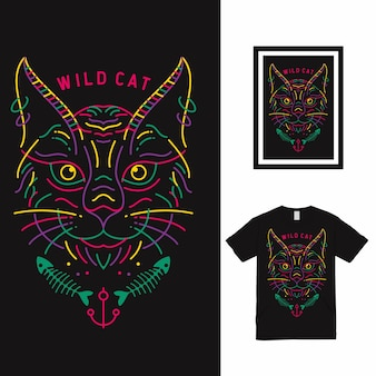 Dream castle high line art t-shirt design