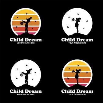 Dreamer kinderlogo-design-set