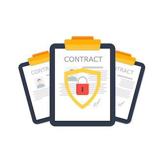 Drei designs sind unter schutz vor anderen benutzern auf weiß dargestellt. vertrauliche informationen.