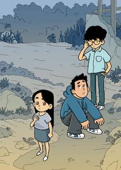 Drei detektivkinder