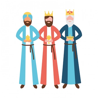 Drei könige könig mit geschenk epiphanie