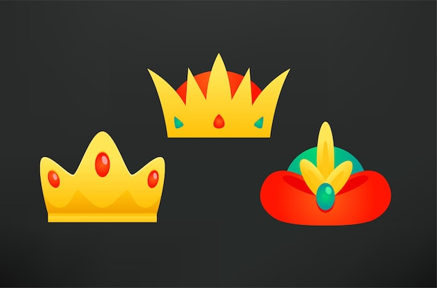 Drei könige kronen clipart