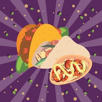 Drei leckere tacos