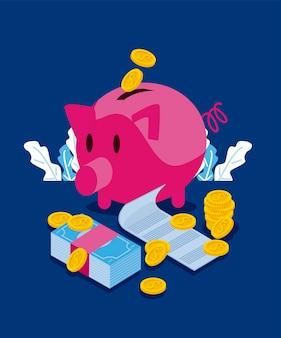 Drei persönliche finanzsymbole