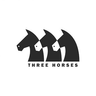 Drei pferd logo