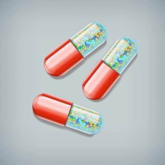 Drei pillen