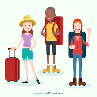 Drei reisende