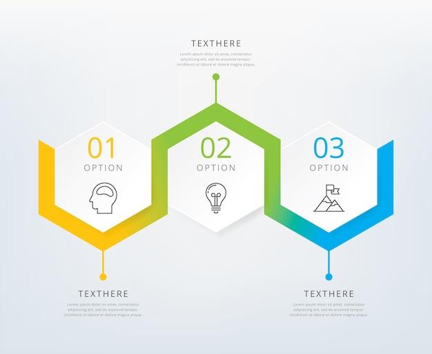 Drei schritte infografiken