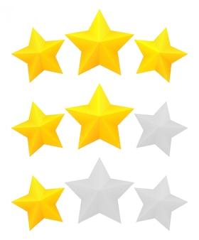 Drei-sterne-bewertung