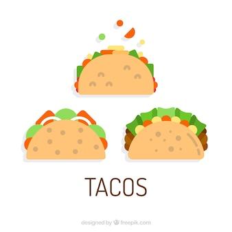 Drei taco vektoren
