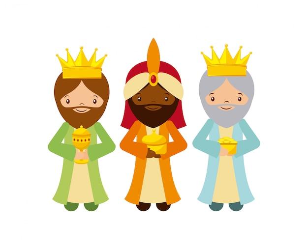 Drei weise männer entwerfen