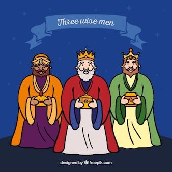 Drei weise männer illustration
