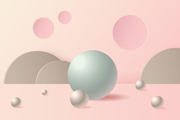 Dreidimensionaler abstrakter szenenhintergrund