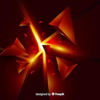 Dreidimensionaler explosionshintergrund mit licht