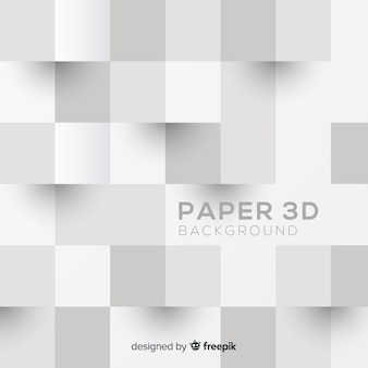 Dreidimensionaler papierstilhintergrund