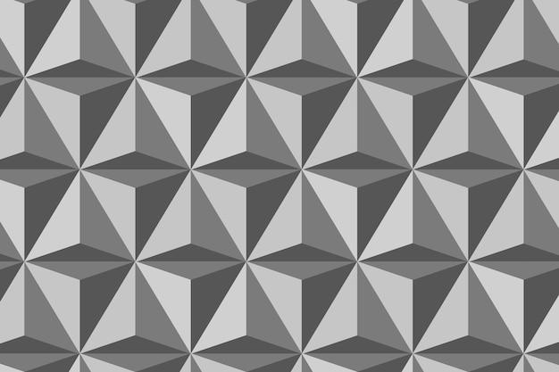 Dreieck 3d geometrischer mustervektor grauer hintergrund im modernen stil