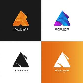 Dreieck abstrakt oder buchstabe ein farbverlaufslogo