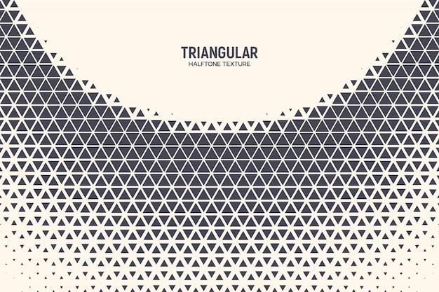 Dreieck-abstrakter technologie-halbtonhintergrund